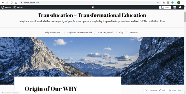 Transducation Homepage - 12 April 2020
