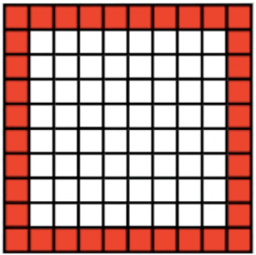 Border Problem 10x10 grid